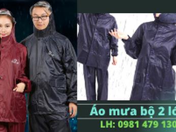 Mua áo mưa bộ vải dù cao cấp 2 lớp giá siêu rẻ tại Tp.HCM
