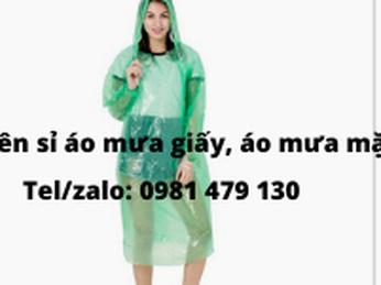 Bán sỉ áo mưa giấy, áo mưa tiện lợi, áo mưa phương tiện tại Tp.HCM