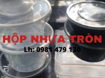 Hộp nhựa tròn 300ml, 500ml, 750ml, 1000ml giá rẻ tại TP.HCM