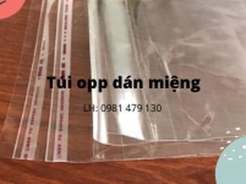 Giá túi OPP dán miệng tại xưởng sản xuất