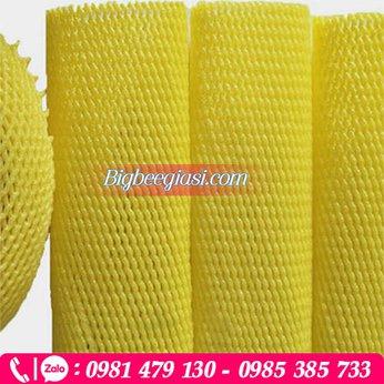 Lưới xốp màu vàng dài 22 cm bọc bơ, dưa, bưởi...