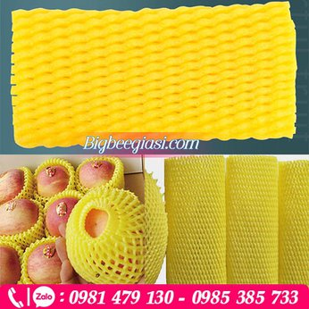 Xốp lưới màu vàng dài 15cm
