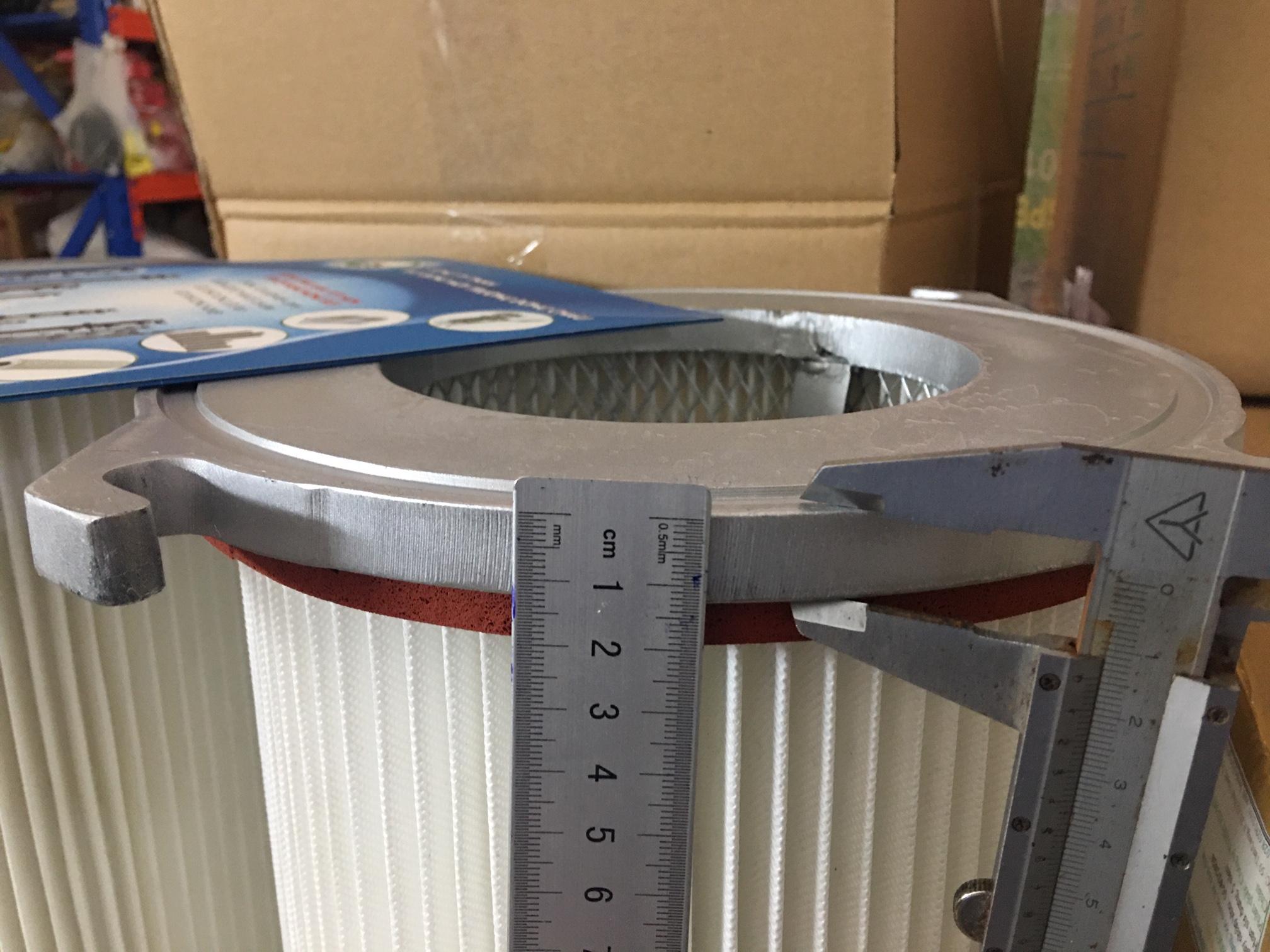 Phin lõi lọc khí giấy PE 4 tai ngàm
