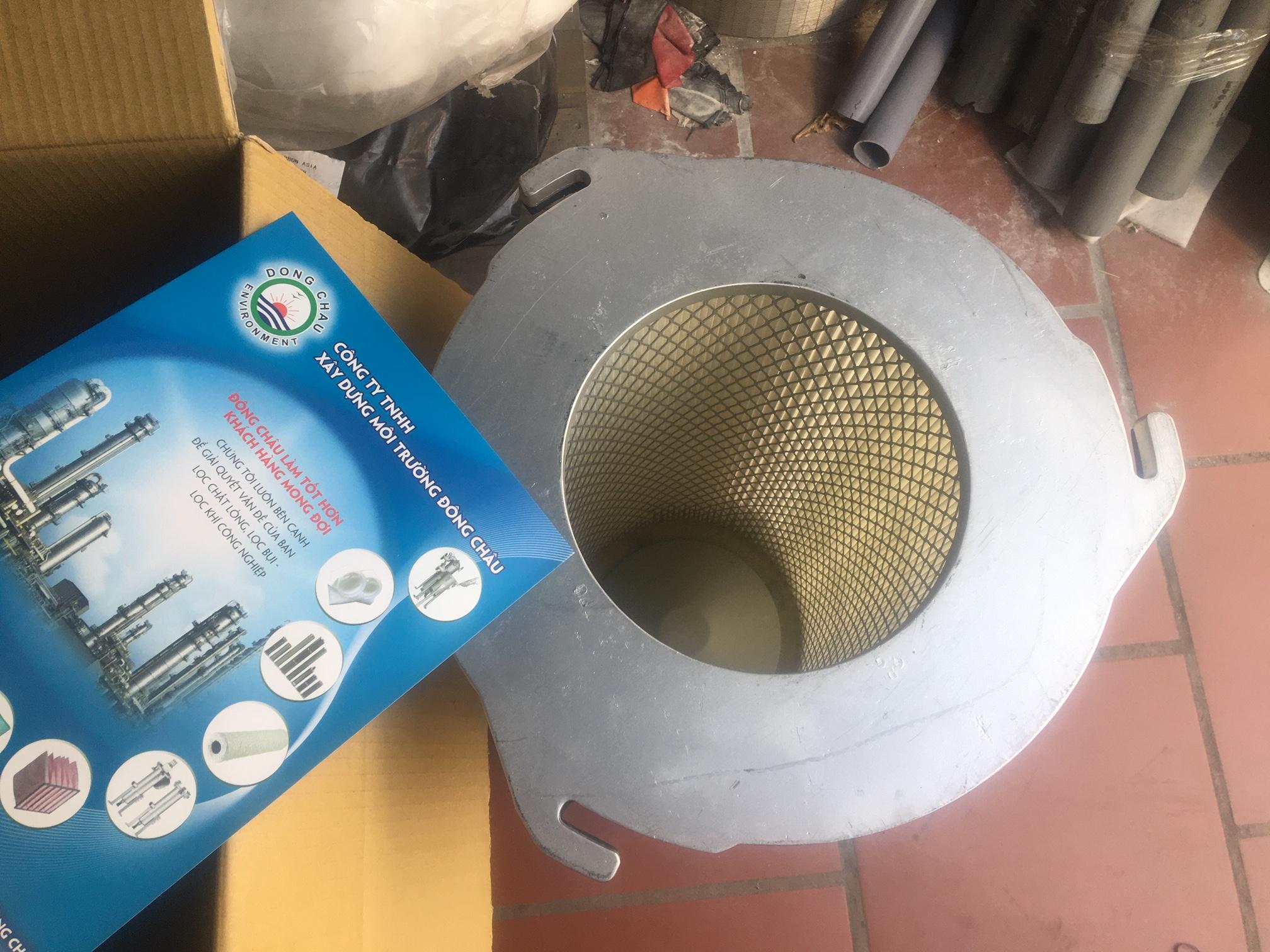 Phin lõi lọc bụi lọc khí giấy nhựa PE 3 tai ngàm