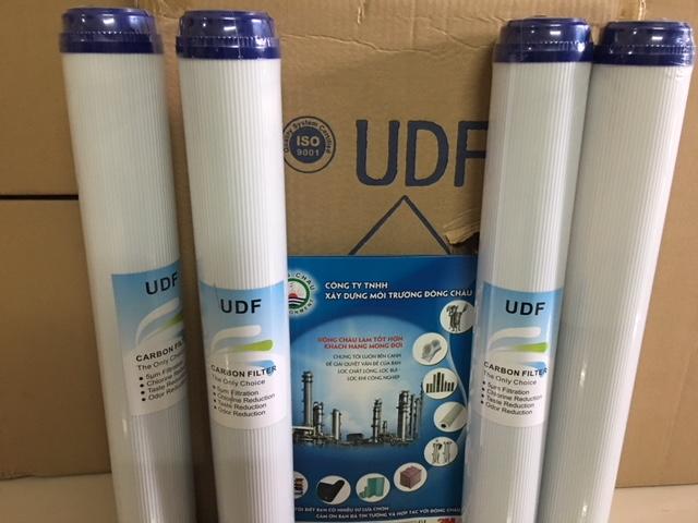 Lõi Than Hoạt Tính UDF Dạng Hạt Vỏ Nhựa 20 Inch