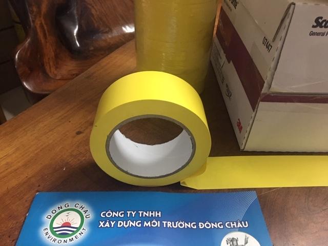 Băng Keo Dán Nền Dán Sàn  Kẻ Vạch màu vàng