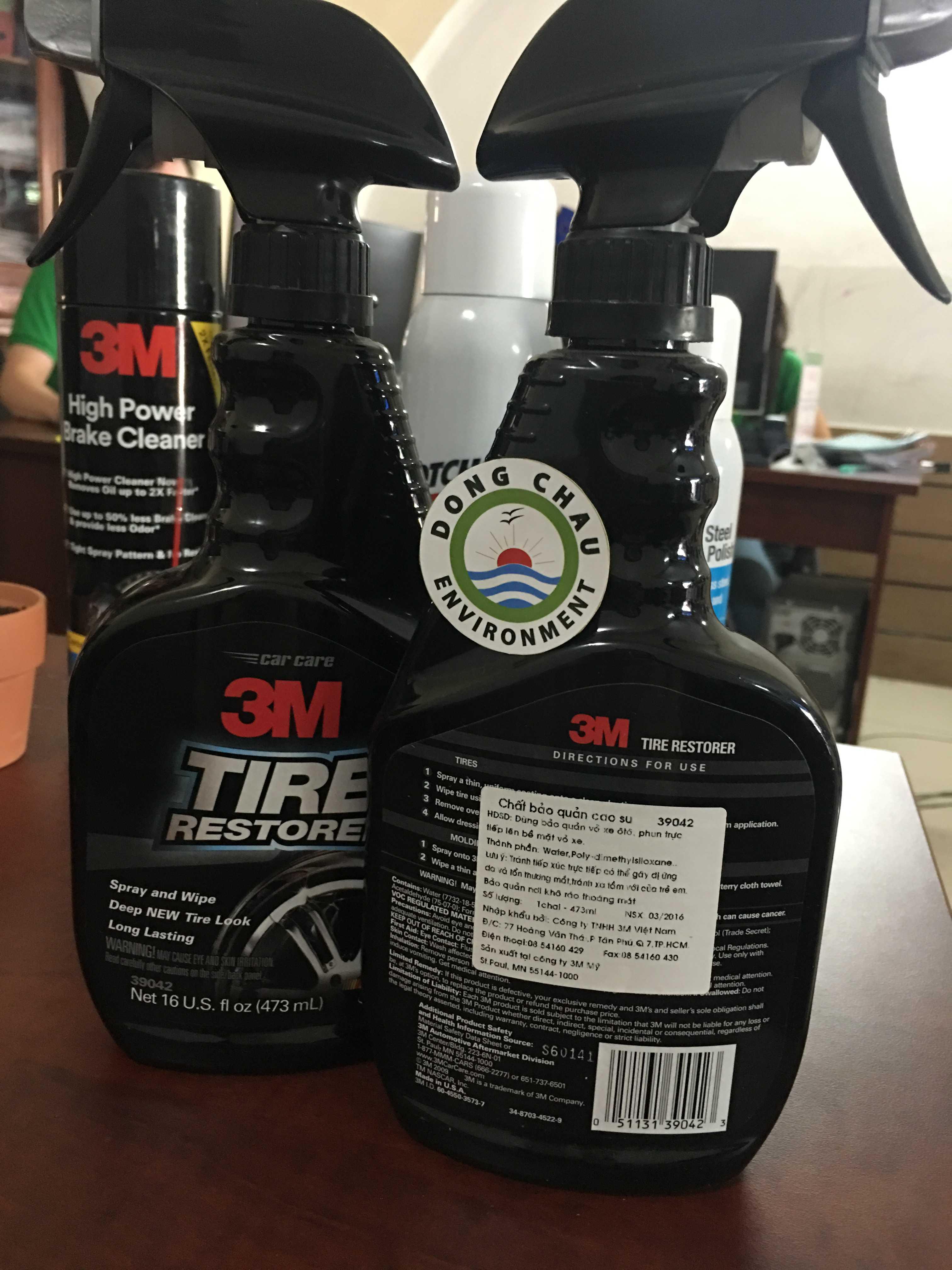 Chai xịt bảo vệ lốp xe vỏ xe ô tô 3M 39042