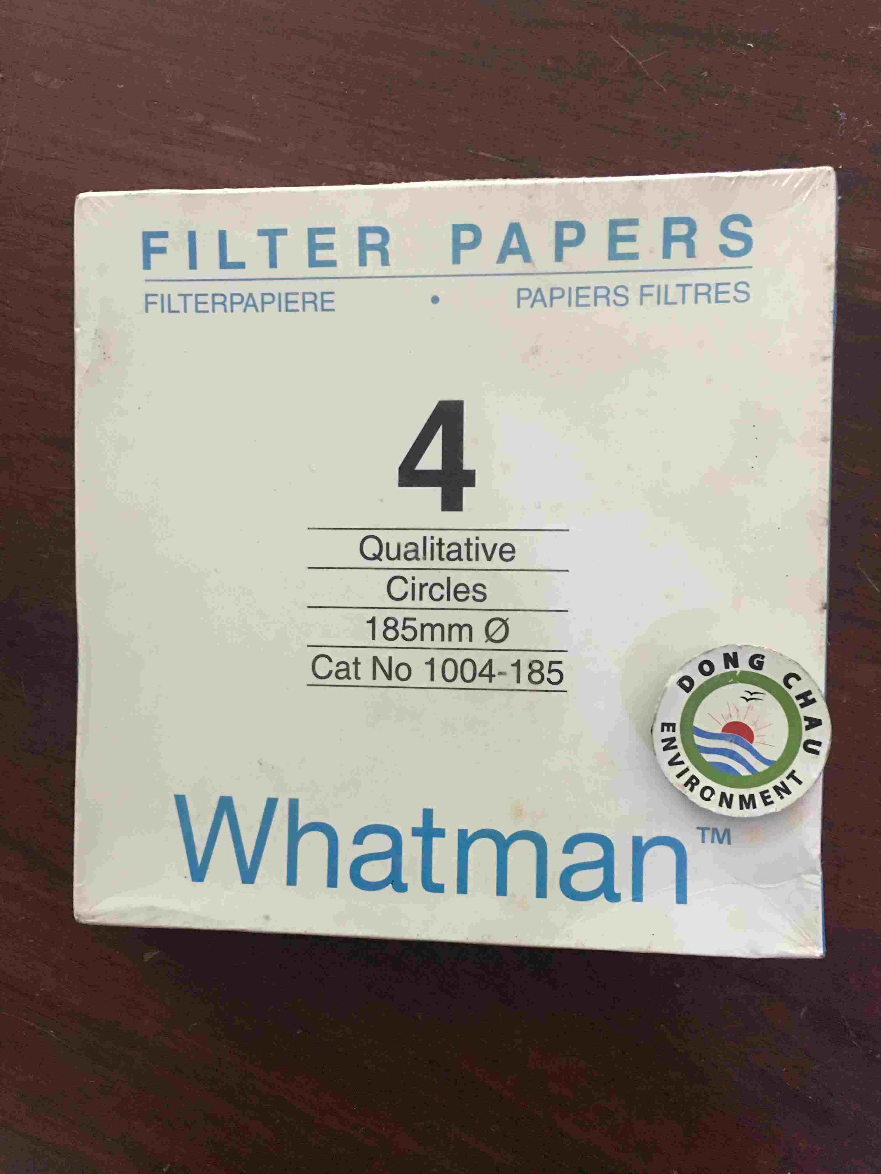 Giấy Lọc Phòng Thí Nghiệm Whatman Số 3 185 Mm