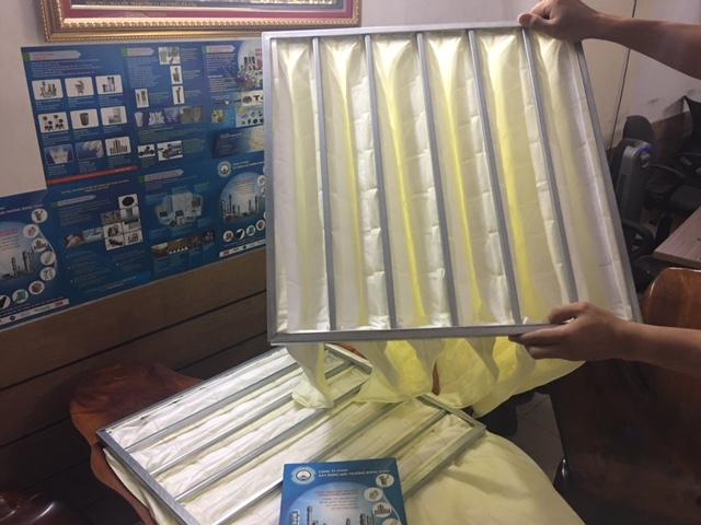 Khung Lọc 6 Túi F8 Màu Vàng Khung Lọc Medium Pocket