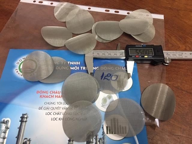 Miếng Lưới Inox Tròn Đường Kính 55mm 120 Mesh