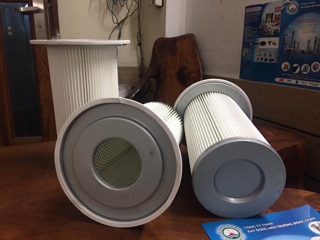 Phin lõi lọc khí có vành có mâm chất liệu polyester