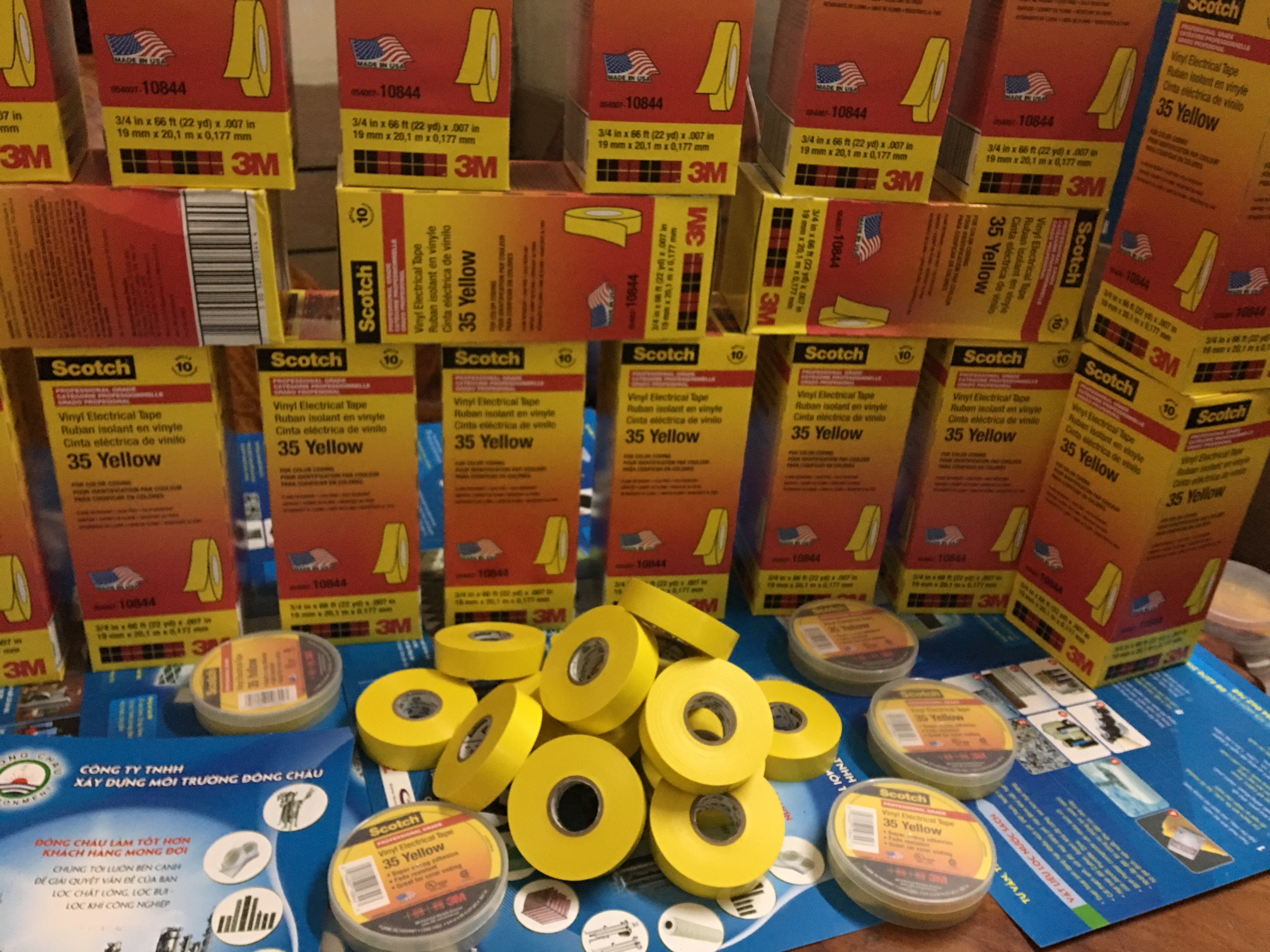 Băng Keo Điện 3M Scotch 35 Màu Vàng