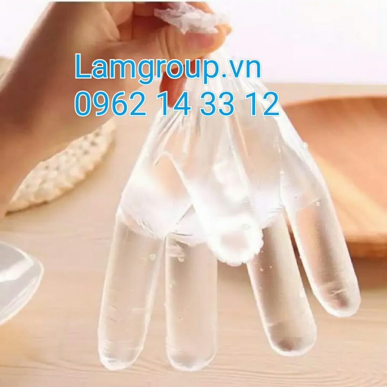 Găng tay nilon nhựa