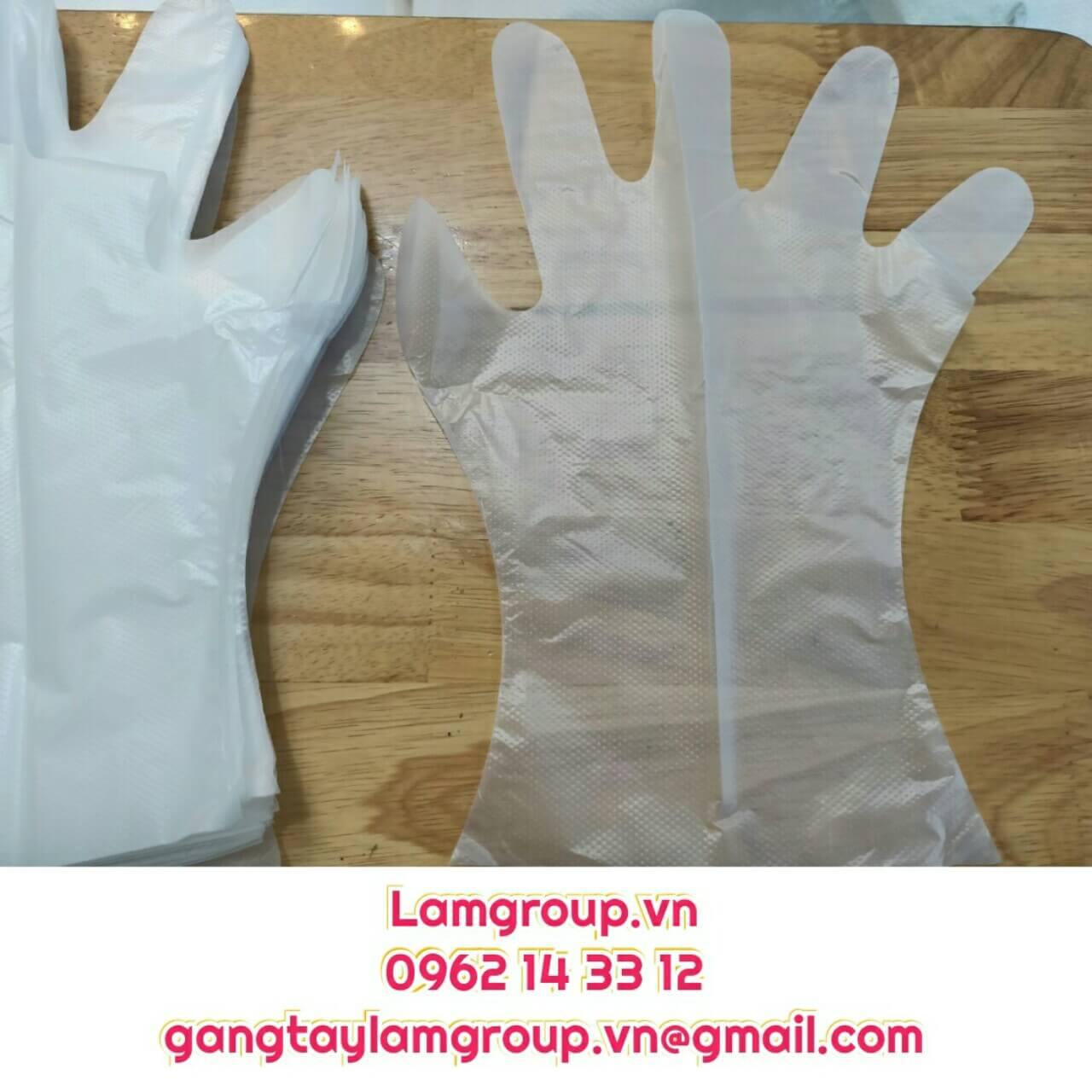 Găng tay xốp nhựa