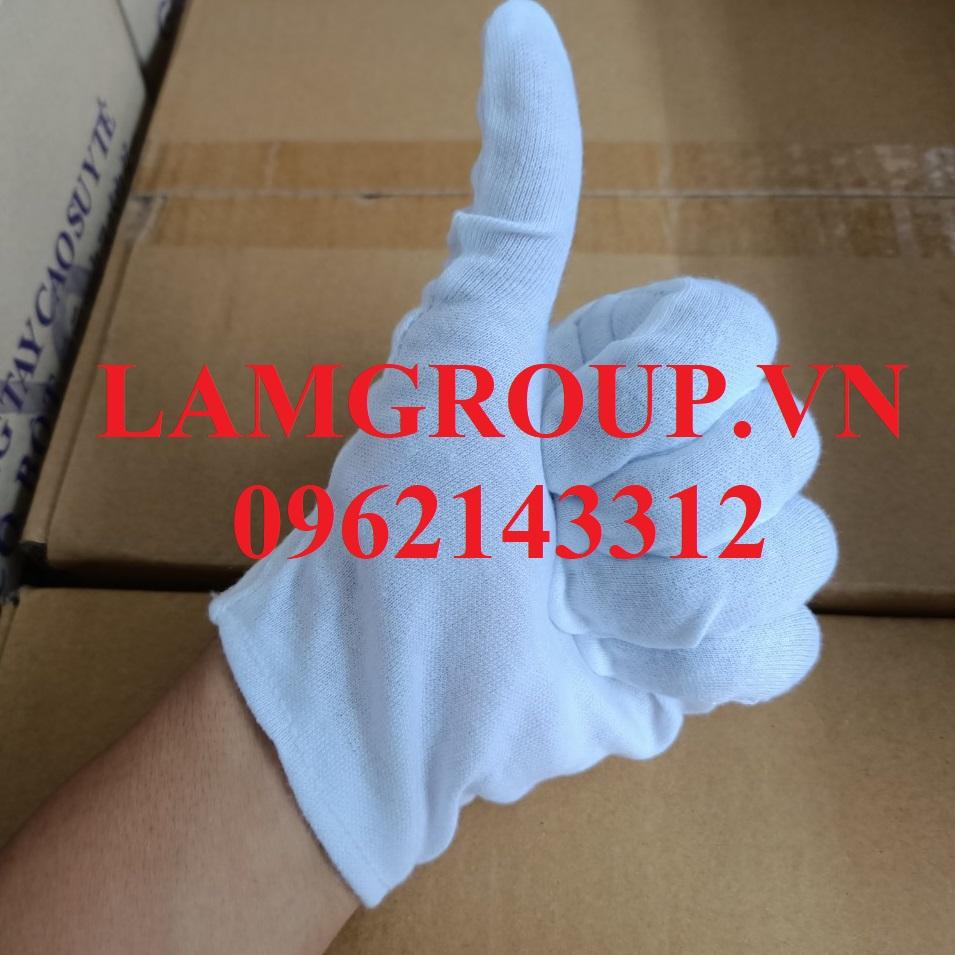 Găng tay vải trắng thun cotton