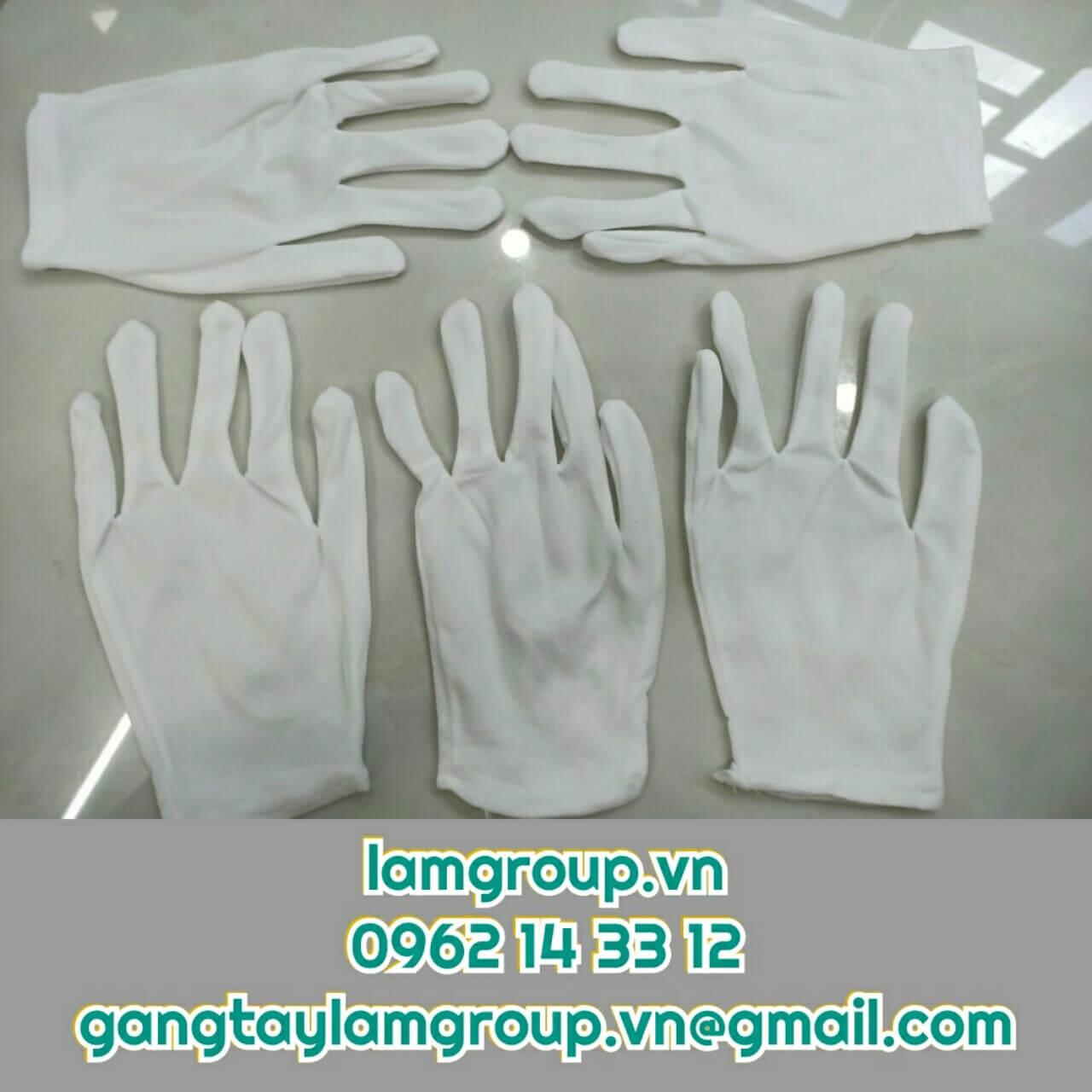 Găng tay vải T9 trắng