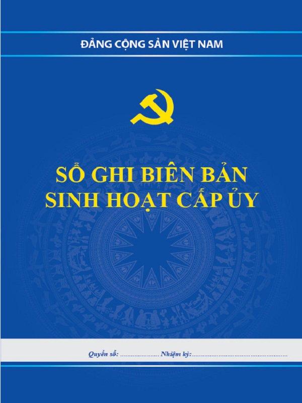 Bán Sổ Ghi Biên Bản Sinh Hoạt Cấp ủy giá rẻ tại TP. HCM
