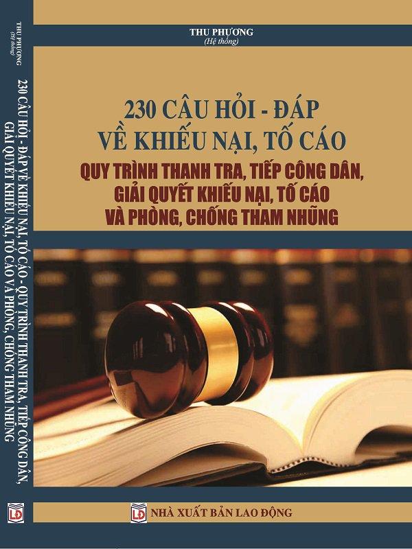 Tìm hiểu 230 câu hỏi đáp về khiếu nại quy trình tiếp công dân