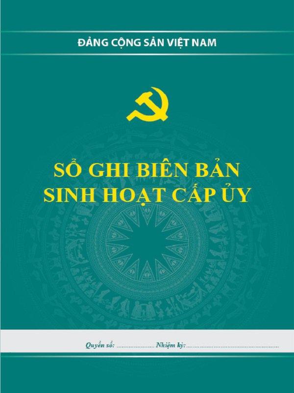 Sổ ghi biên bản sinh hoạt chi bộ đảng - Nhà sách chính trị tài Chính