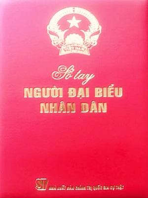 Sổ tay người đại biểu nhân dân Bìa Da - Nhà sách pháp luật chính Trị