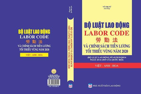Bộ luật lao động 2020 tam ngữ anh - hoa - việt - labor code