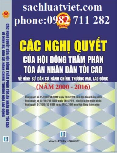 Sách các nghị quyết của hội đồng thẩm phán Giảm Đến 50% tại TP.HCM