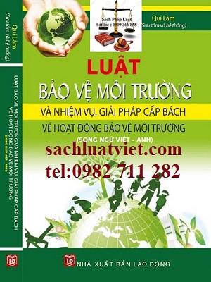 Luật Bảo vệ môi trường (Song ngữ Việt - Anh) giá rẻ, uy tín chất lượng