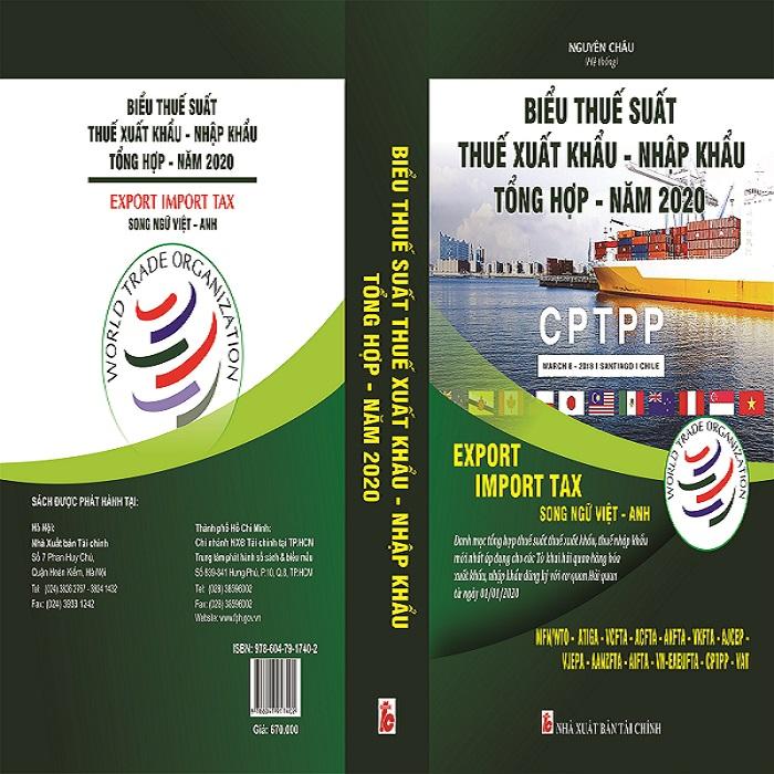 Bán Sách Biểu Thuế Xuất Nhập Khẩu 2020 Chi Cục Hải Quan CK CSG KV4