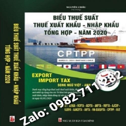 Sách Biểu Thuế Xuất Nhập Khẩu Song Ngữ Mới Nhất Tháng 5 /2020