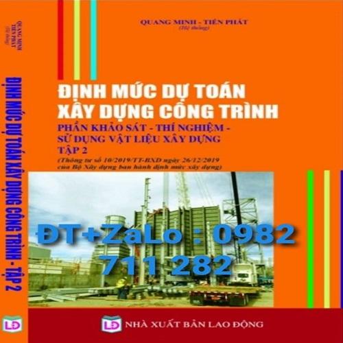 Sách Định Mức Dự Toán Xây Dựng Tháng 4 /2020 giá rẻ tại TP. HCM