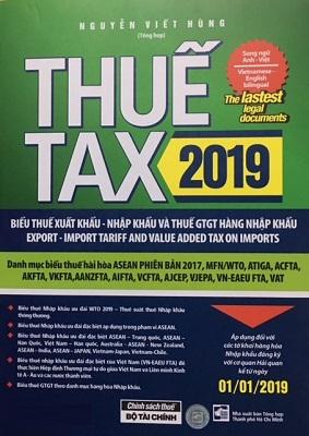 Sách Thuế TAX Biểu Thuế Xuất Nhập Khẩu Thuế GTGT
