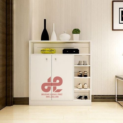 Tủ giày gỗ thiết kế hiện đại cho ngôi nhà thêm gọn gàng