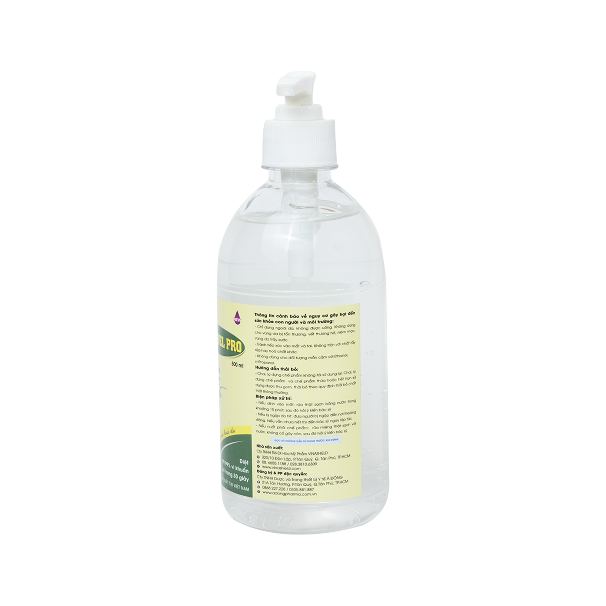 Dung dịch sát khuẩn tay nhanh CLEANWEL PRO - Chai 500 ml