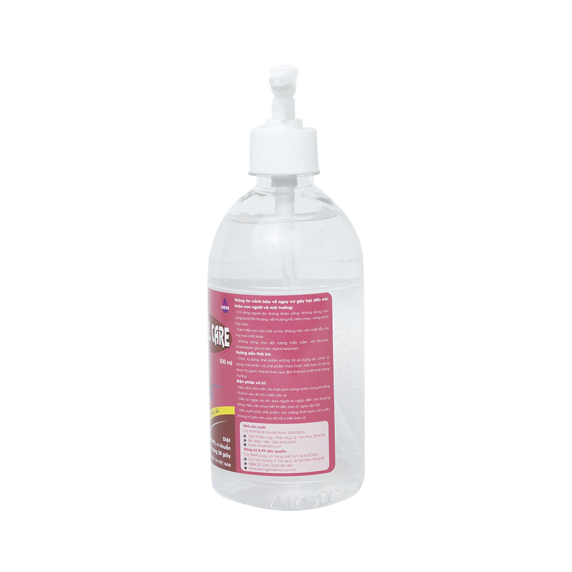 Dung dịch sát khuẩn tay nhanh CLEANWEL CARE - Chai 500ml