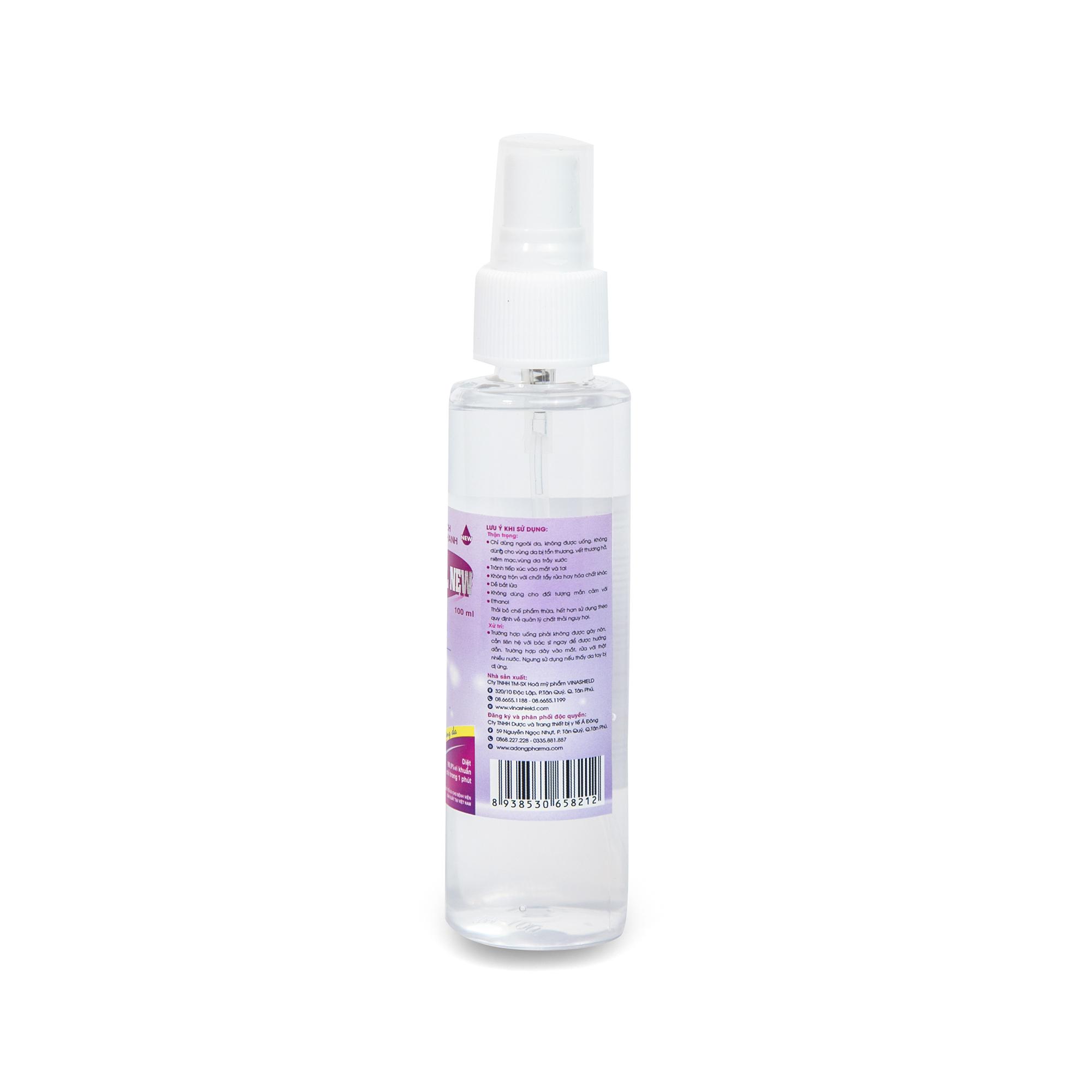 Dung dịch sát khuẩn tay nhanh CLEANWEL NEW - Chai 100 ml chai vòi xịt