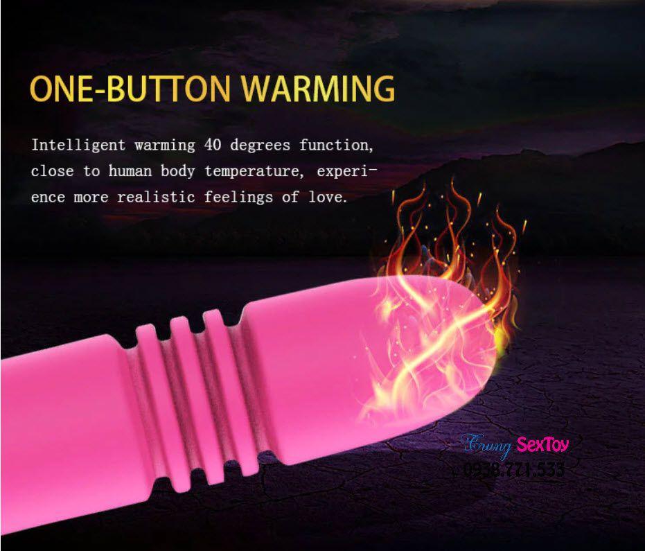 Dương vật giả hai đầu Manmuo rung thụt và có nhiệt độ giúp bạn sướng.