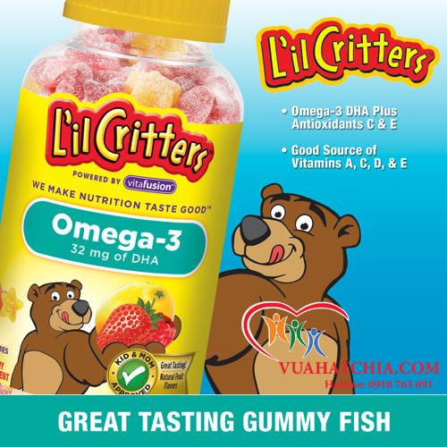 Omega-3 DHA Gummy Fish - Kẹo Dẻo Bổ Sung Vitamin
