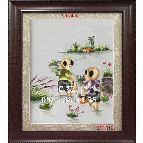 Tranh Thêu Hoa Cúc OT 1163