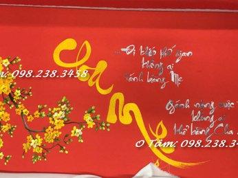tranh thêu cha mẹ đã được thêu và giao đến chị Lâm ở đường Quang Trung, Quận Gò Vấp, TPHCM