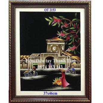 Tranh thêu chợ Bến ThànhOT 2153