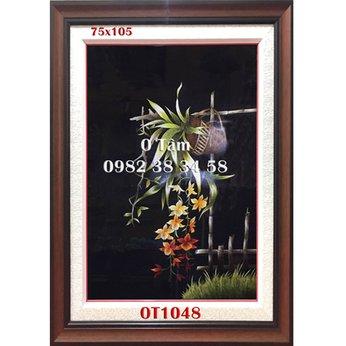 Tranh thêu hoa lan OT 1048