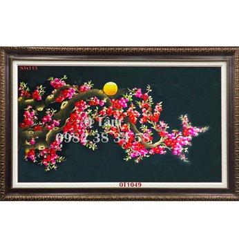 Tranh Thêu Hoa Đào OT1 049