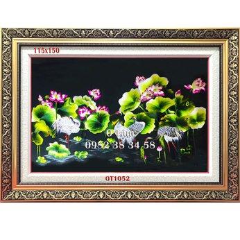 Tranh Thêu Hoa Sen OT 1052