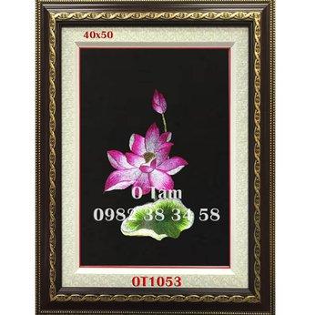 Tranh Thêu Hoa Sen OT1053