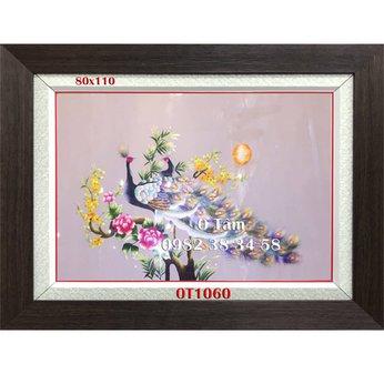 Tranh Thêu Chim Công Mẫu Đơn OT 1060