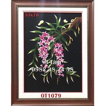 Tranh Thêu Hoa Lan OT 1079
