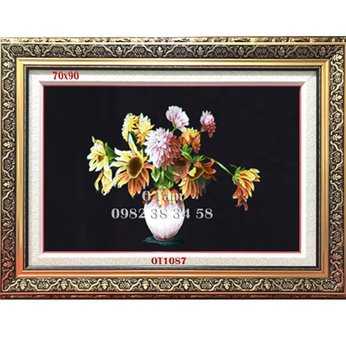Tranh Thêu Hoa Cúc OT 1087