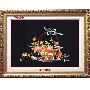 Tranh Thêu Hoa Hồng OT 1088