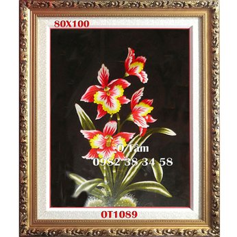 Tranh Thêu Hoa Lan OT 1089