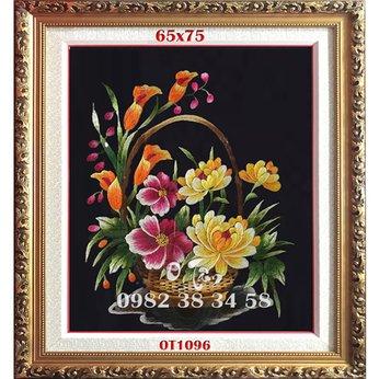 Tranh Thêu Hoa Cúc OT 1096